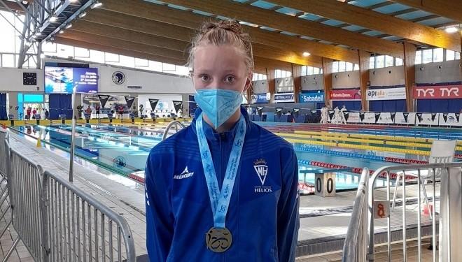Un oro y una plata en la jornada de ayer del infantil de natación